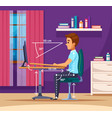 study hard position composition vector image