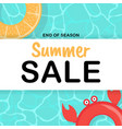 summer sale background poster template with vector image