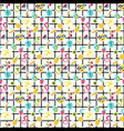 summer stickers color seamless pattern vector image