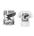t-shirt print air force gothic eagle hawk vector image vector image