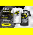 t-shirt template fully editable with yellow vector image vector image