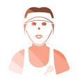 tennis woman athlete head icon vector image