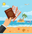 vacation travel and summer concept vector image vector image