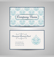 vintage arabic style business card template vector image
