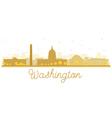 Washington dc city skyline golden silhouette vector image