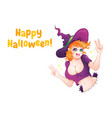 witch girl vector image vector image