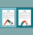 yoga woman in various poses vector image