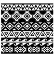 Seamless Tribal Pattern Design vector image