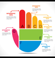 creative hand info-graphics design concept vector image