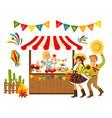 tent festa junina brazilian vector image