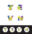 3d letter logo icon alphabet vector image vector image