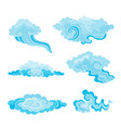 a cartoon clouds set in vector image