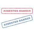 asbestos danger textile stamps vector image vector image