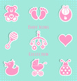 Baby icons collection vector image vector image