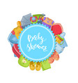 baby shower with baby vector image