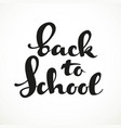 back to school calligraphic inscription on a white vector image