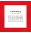 Barbecue Party Paper Template vector image vector image