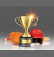 baseball sport game championship winner award vector image