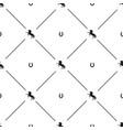 black horse horseshoe seamless pattern vector image