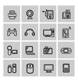 black video and audio icons set vector image vector image