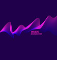 bright music poster with dynamic waves vector image vector image