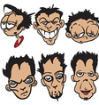 bunch of cartoon faces vector image