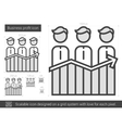 Business profit line icon vector image vector image