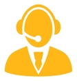 Call Center Worker Icon vector image vector image