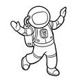 Coloring book astronaut