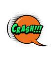 crash comic style phrase with speech bubble vector image vector image