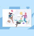 creative office coworking center concept people vector image vector image