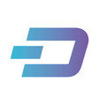 cryptocurrency dash symbol isolated icon vector image vector image