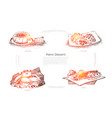delicious baking tasty pastry charlotte vector image