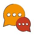 drawing bubble talk dialog chatting social media vector image