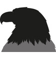 eagle head silhouette vector image vector image