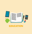 education flat design concept for web and mobile vector image