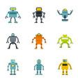 electronic robot icons set flat style vector image