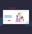 financial profit investment income website landing vector image vector image