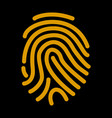 fingerprint scan icon flat vector image vector image