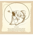 Fishing club emblem design vector image