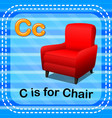 flashcard letter c is for chair vector image vector image