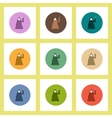 flat icons Halloween set of party costume concept vector image vector image