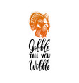 gobble till you wobble hand lettering vector image vector image