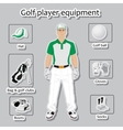 Golf player and equipment vector image vector image
