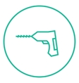 Hammer drill line icon vector image vector image
