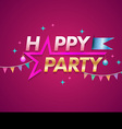 Happy Party design template with star vector image