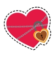 heart with padlock vector image vector image