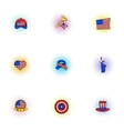Holiday independence day of USA icons set vector image vector image