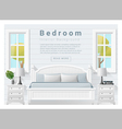 Interior design bedroom background 9 vector image vector image
