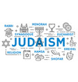 judaism religion symbols thin line icons vector image
